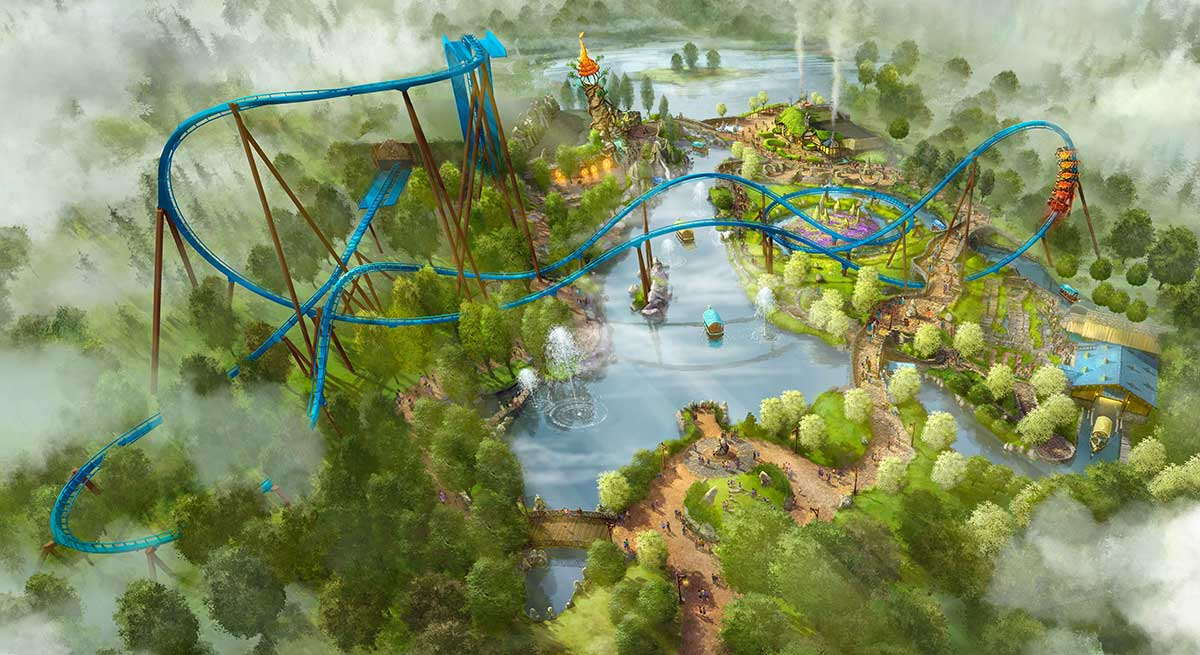 Toverland's Fenix wing coaster will open in 2018.