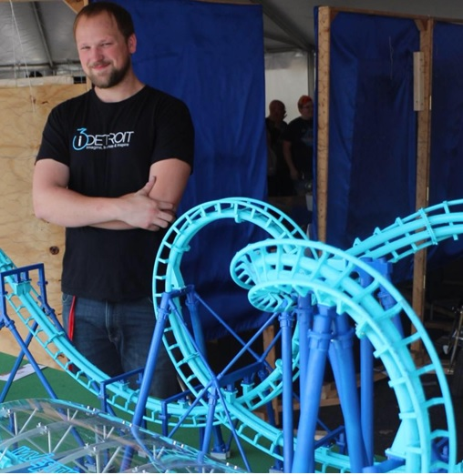 3d printed roller coaster
