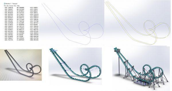 solidworks roller coaster model
