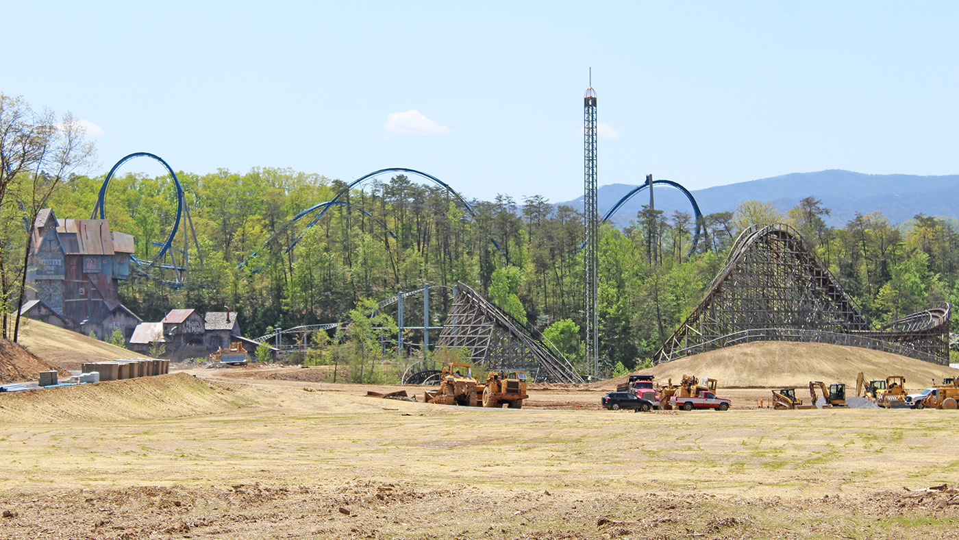 Dollywood 2019 Construction Update April 2018 - Coaster101