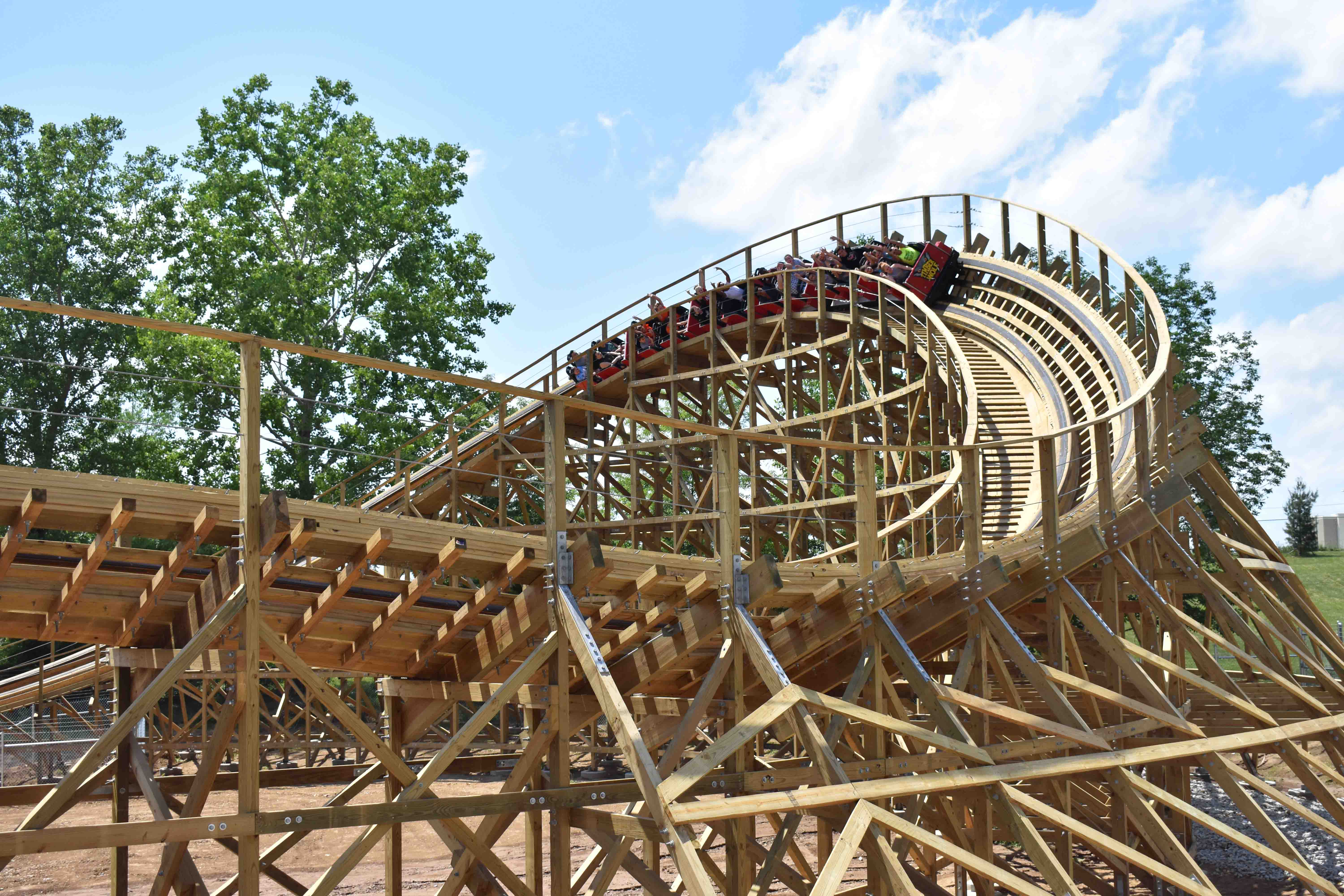 Timber Wolf at Worlds of Fun Reopens with New Finale - Coaster101