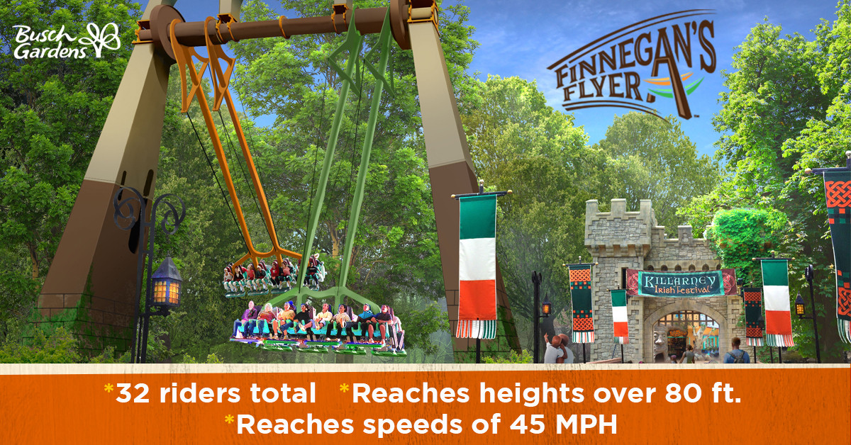 Finnegan\'s Flyer & Cutback Water Coaster Opening at Busch Gardens ...