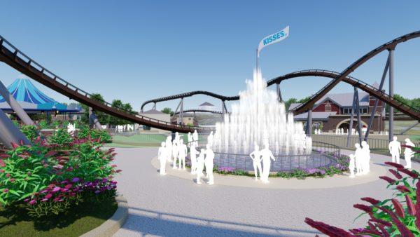 Hersheypark Chocolatetown Kisses Fountain