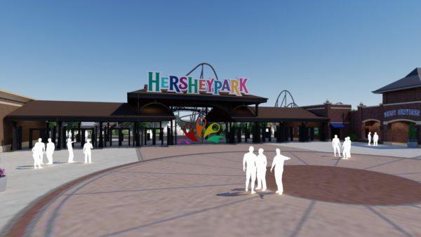 Hersheypark Chocolatetown Front Gate Entrance