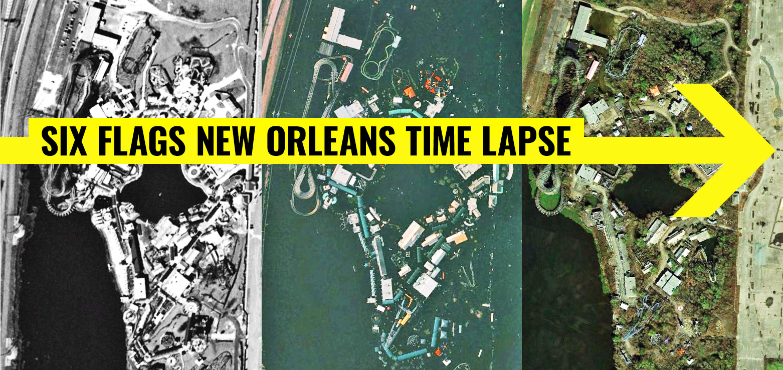 Six Flags New Orleans Time Lapse Before And After Katrina Coaster101 Located on the mississippi river, new orleans, louisiana is a popular tourist destination for those timeshare resales and rentals in new orleans can save you money every time you return to this. six flags new orleans time lapse before