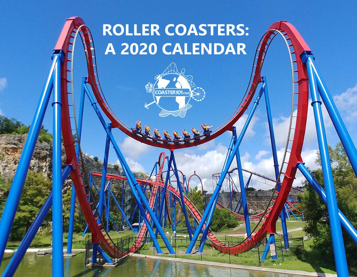 Calendrier Running 2020.Roller Coasters A 2020 Calendar