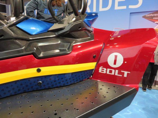 Bolt coaster vehicle