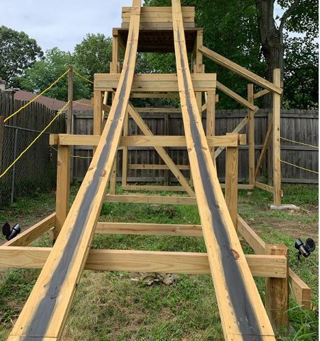 Building a Wooden Backyard Roller Coaster with Sammy ...