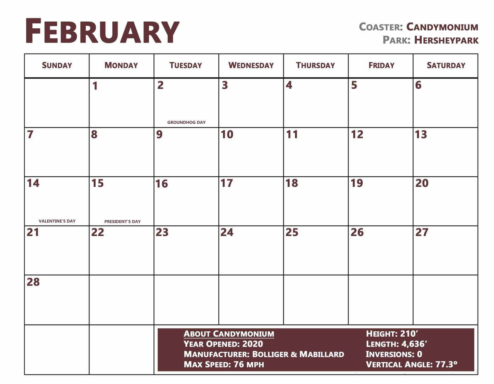 Roller Coasters: A 2021 Calendar   Coaster101